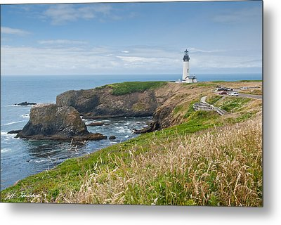 Metal Print featuring the photograph Yaquina Head Lighthouse by Jeff Goulden