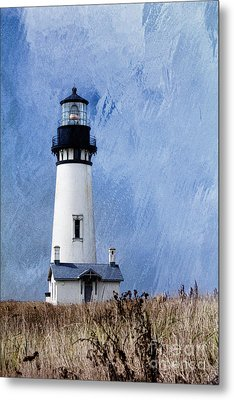 Yaquina Lighthouse Metal Print by Elena Nosyreva