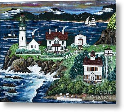 Yaquina Lighthouse Metal Print by Jennifer Lake