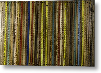 Yardsticks - Colorful Metal Print by Kurt Olson