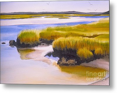 Metal Print featuring the painting Yarmouthport Marsh by Karol Wyckoff