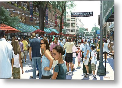 Yawkey Way Metal Print by Linda Tenukas