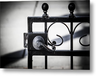 Ybor City Gate Metal Print by Carolyn Marshall
