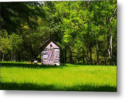Metal Print featuring the photograph Ye Old Cabin by Andy Lawless