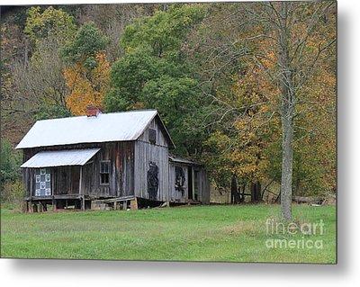Ye Old Cabin In The Fall Metal Print
