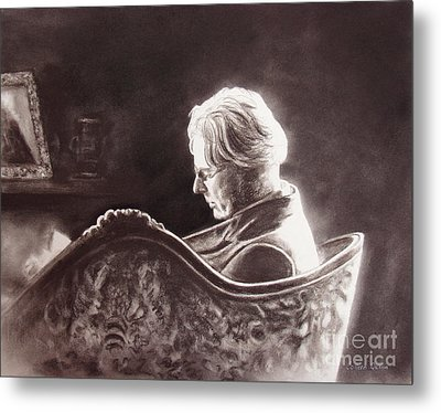 Yeats At The Fire Metal Print