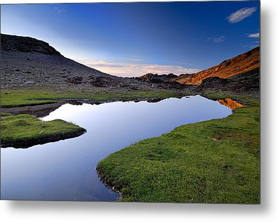 Yeguas Lake At Sunset Metal Print by Guido Montanes Castillo