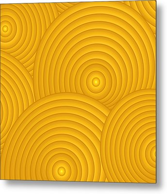 Yellow Abstract Metal Print