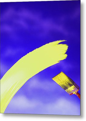Yellow And Blue Metal Print by Steven Huszar