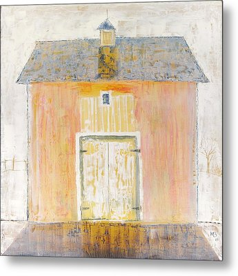 Yellow Barn Metal Print by Mikhail Zarovny