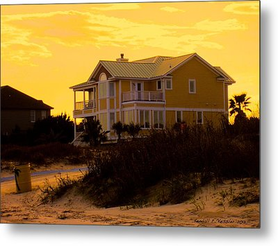 Yellow Beauty At Isle Of Palms Metal Print by Kendall Kessler
