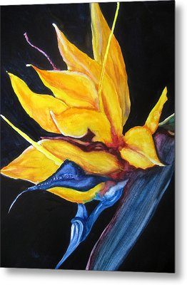 Metal Print featuring the painting Yellow Bird by Lil Taylor