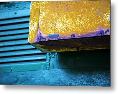 Yellow-blue Abstract Metal Print