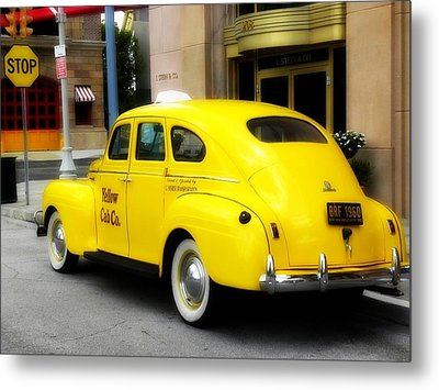 Yellow Cab Metal Print