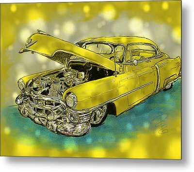 Yellow Cad Metal Print
