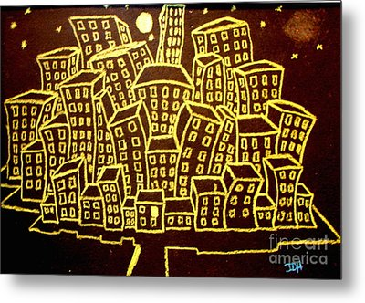 Yellow City Or City Of Gold Metal Print