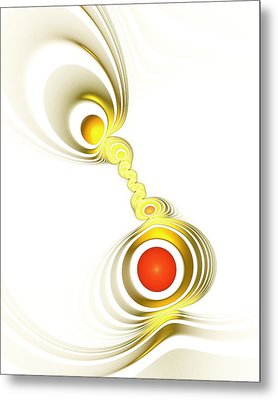 Yellow Connection Metal Print