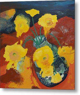 Yellow Daisies Metal Print by Joseph Demaree