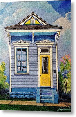 Yellow Door Shotgun  Metal Print
