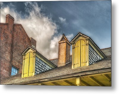 Yellow Dormers Metal Print by Brenda Bryant