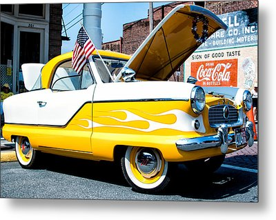 Yellow Flame Metal Print by Cindy Archbell