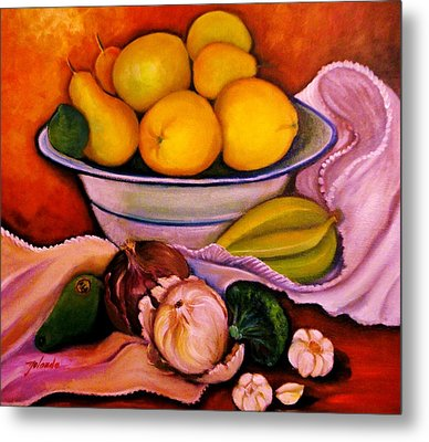 Yellow Fruits Metal Print by Yolanda Rodriguez