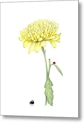 Metal Print featuring the painting Yellow Fun by Heidi Kriel