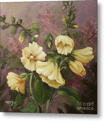 Yellow Holyhock Metal Print