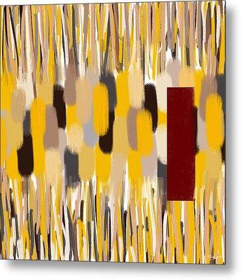 Yellow Intense Metal Print