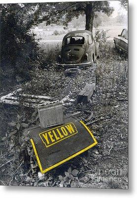 Yellow Metal Print by   Joe Beasley