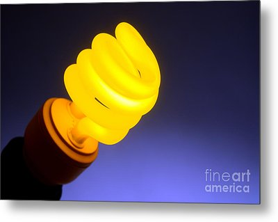 Yellow Light Metal Print by Olivier Le Queinec