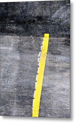 Yellow Line Metal Print by John Illingworth