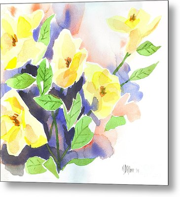 Metal Print featuring the painting Yellow Magnolias by Kip DeVore