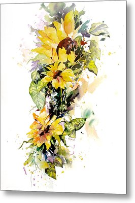 Yellow Majesty Metal Print