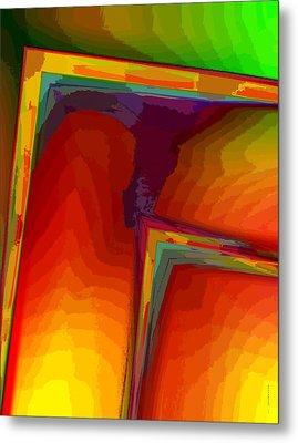 Yellow Orange And Green Design Metal Print by Mario Perez