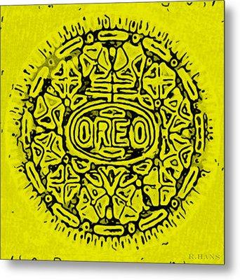 Yellow Oreo Metal Print by Rob Hans