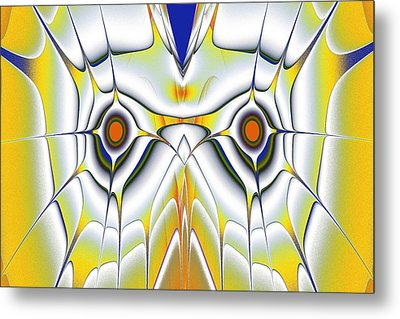 Yellow Owl Metal Print by Anastasiya Malakhova