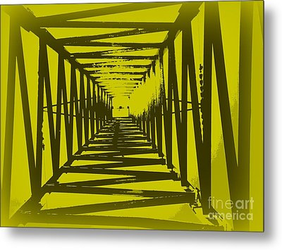 Metal Print featuring the photograph Yellow Perspective by Clare Bevan