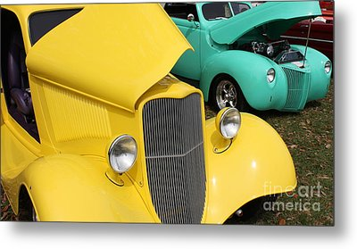 Yellow Pistachio Metal Print by Cathy Dee Janes