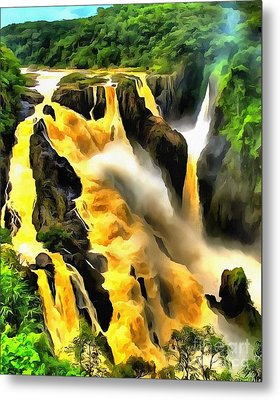 Yellow River Metal Print by Catherine Lott