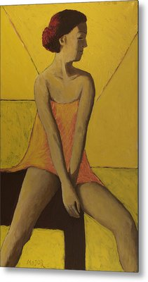Metal Print featuring the painting Yellow Room by Clarence Major