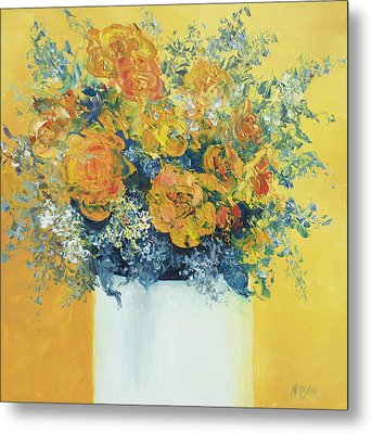 Yellow Roses Metal Print by Jan Matson