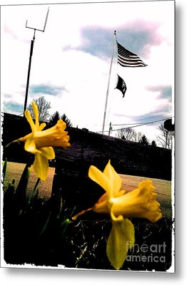 Yellow Salute Metal Print by Thommy McCorkle