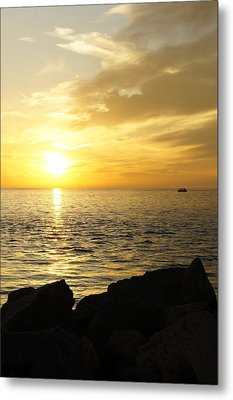 Metal Print featuring the photograph Yellow Sky by Laurie Perry