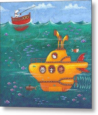 Yellow Submarine Metal Print by Peter Adderley