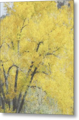 Yellow Trees Metal Print by Ann Powell