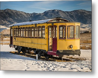 Yellow Trolley Metal Print