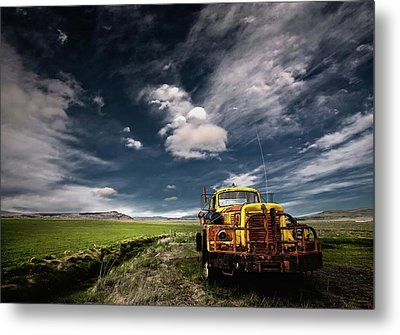 Yellow Truck Metal Print by ?orsteinn H. Ingibergsson