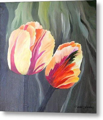 Yellow Tulips Metal Print by Carola Ann-Margret Forsberg