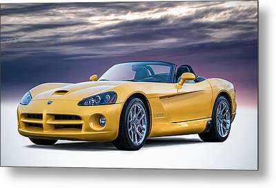 Yellow Viper Convertible Metal Print by Douglas Pittman
